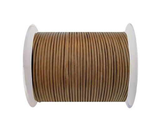 Round Leather Cord SE/R/14-Hazelnut-3mm