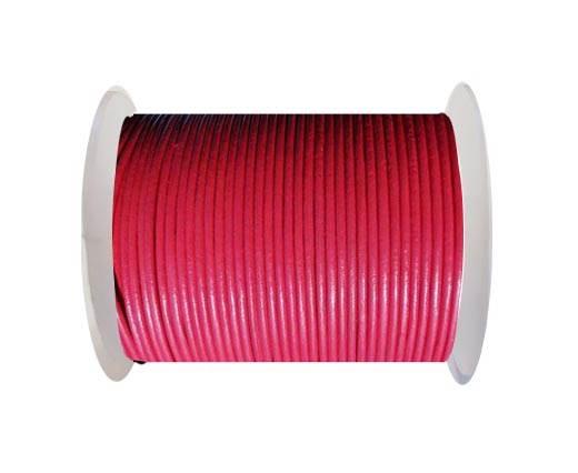 Round Leather Cord SE/R/17-Raspberry - 2mm