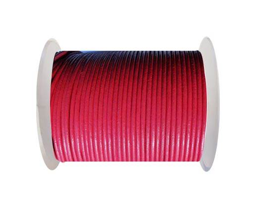 Round Leather Cord SE/R/17-Raspberry - 3mm