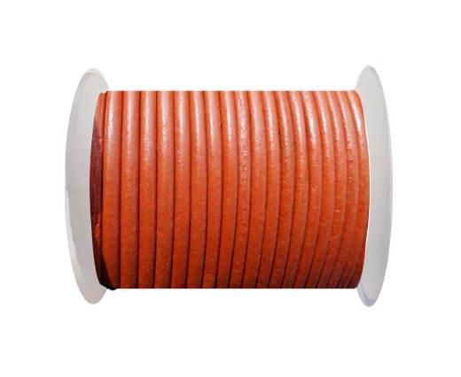 Round Leather Cord SE/R/20-Orange - 2mm