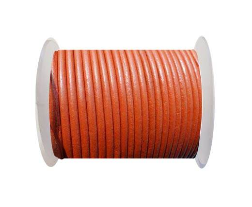 Round Leather Cord SE/R/20-Orange - 3mm