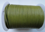 Round Leather Cord SE/R/22-Pistachio Green - 1,5mm
