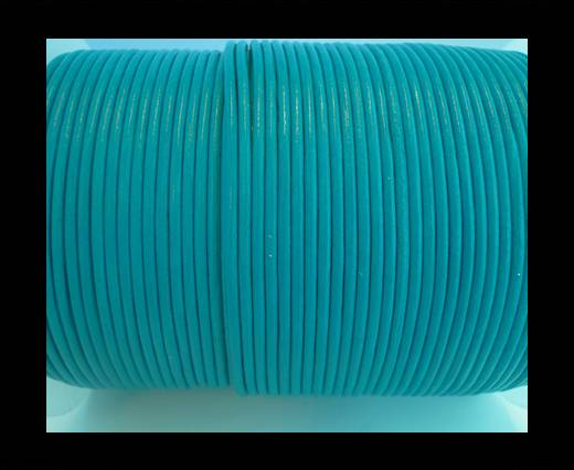 Round Leather Cord SE/R/23-Sea Blue-2mm