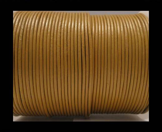 Round Leather Cord SE/R/15-Camel - 2mm