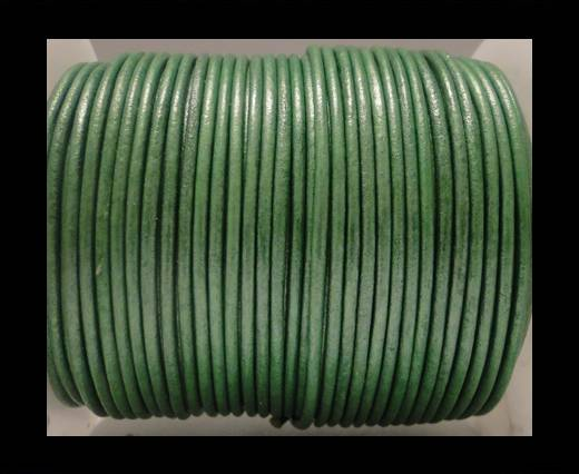 Buy Round Leather Cord SE/R/Metallic Apple Green - 2mm at wholesale prices