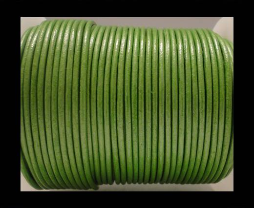 Buy Round Leather Cord SE/R/Metallic Olive Green - 2mm at wholesale prices