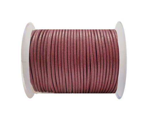 Round Leather Cord SE/R/ Violet - 2mm