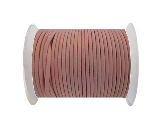 Round Leather Cord SE/R/Baby Pink - 1,5mm