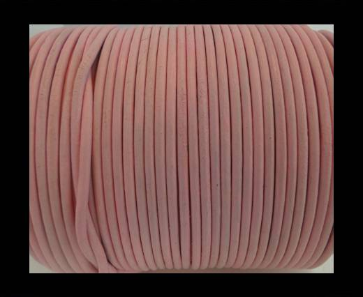 Round Leather Cord SE/R/Baby Pink - 2mm
