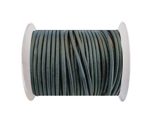Round Leather Cord SE/R/Dark Grey - 2mm