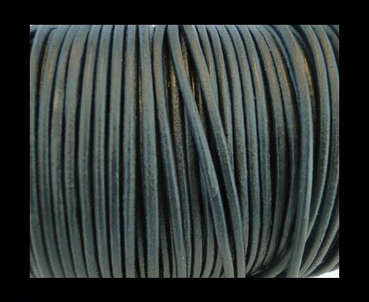 Round Leather Cord SE/R/Dark Grey - 3mm