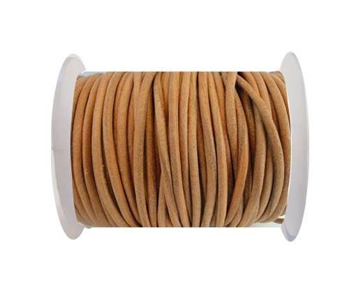 Round Leather Cord SE/R/Dark Natural-2mm