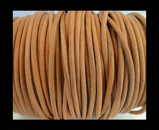 Round Leather Cord SE/R/Dark Natural-3mm