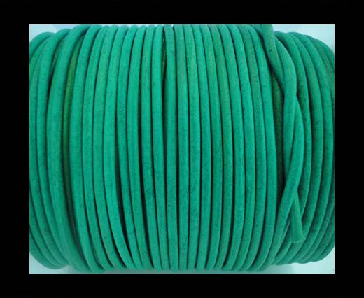 Round Leather Cord SE/R/Lagoon-2mm