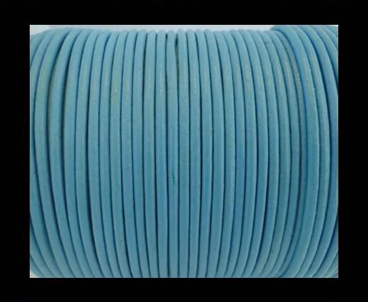Round Leather Cord SE/R/Light Blue - 1,5mm