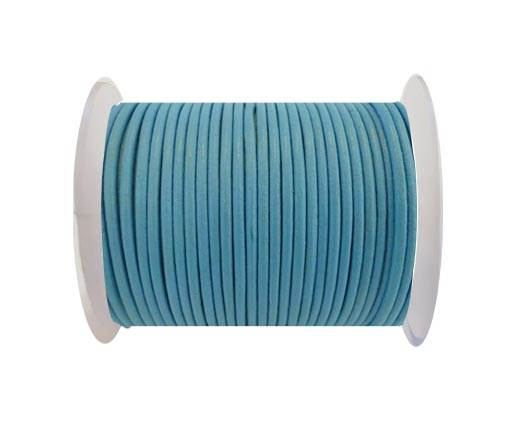 Round Leather Cord SE/R/Light Blue - 3mm