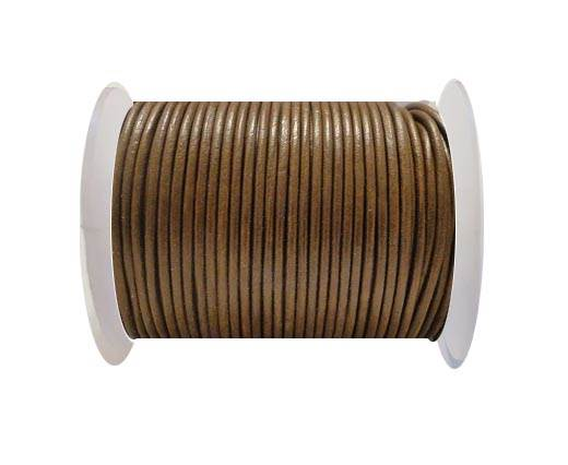 Round Leather Cord SE/R/Light Tan - 1,5mm