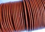 Round Leather Cord SE/R/Metallic Cinnamon - 3mm