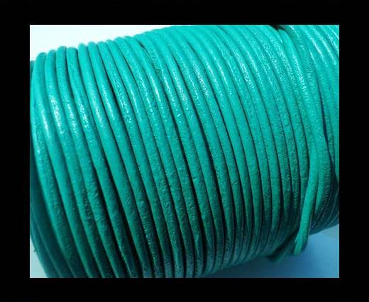 Round Leather Cord SE/R/Mint - 2mm