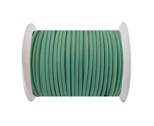 Round Leather Cord SE/R/Ocean-2mm