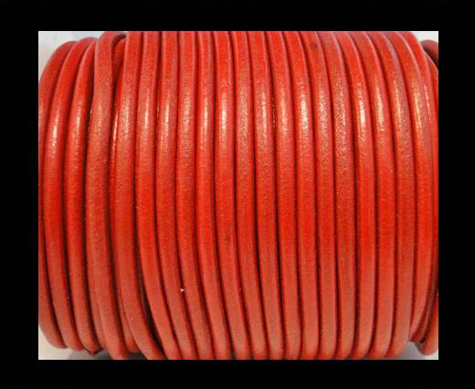 Round Leather Cord SE/R/05-Red - 3mm