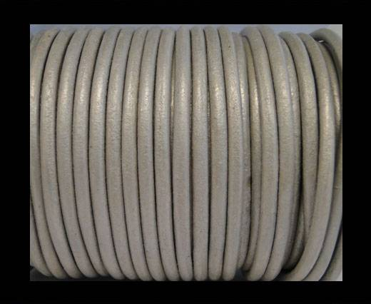 Round Leather Cord SE/R/Silver - 2mm