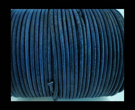Buy Round Leather Cord SE/R/Vintage Blue-2mm at wholesale prices