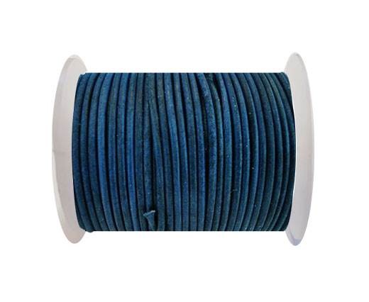 Round Leather Cord SE/R/Vintage Blue-3mm