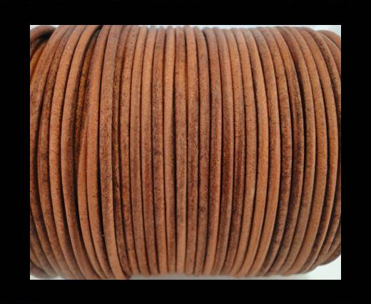 Round Leather Cord SE/R/Vintage Cognac-3mm