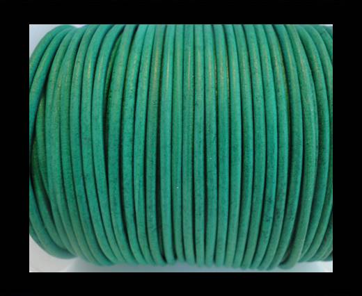 Buy Round Leather Cord SE/R/Vintage Green-2mm at wholesale prices
