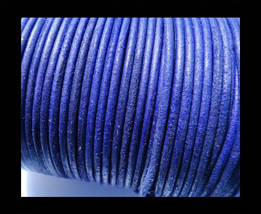 Round Leather Cord SE/R/Vintage Purple-3mm