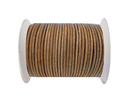Round Leather Cord SE/R/Vintage Tan-1,5mm