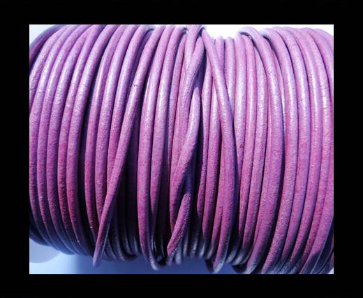 Round Leather Cord SE/R/Violet - 2mm