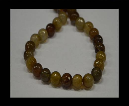 Semi Precious Stones item 5-10mm-Multi Mokka
