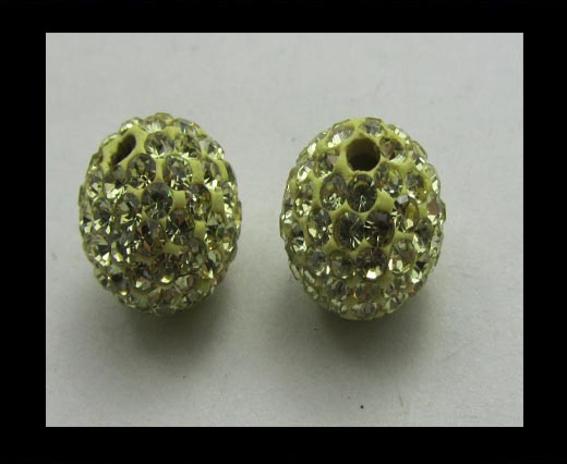 Buy Shamballa-Bead-12mm-Lime at wholesale prices