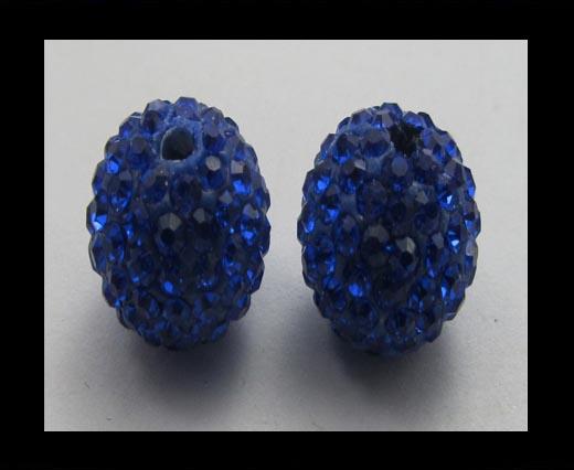 Shamballa-Bead-10mm-Saphire AB