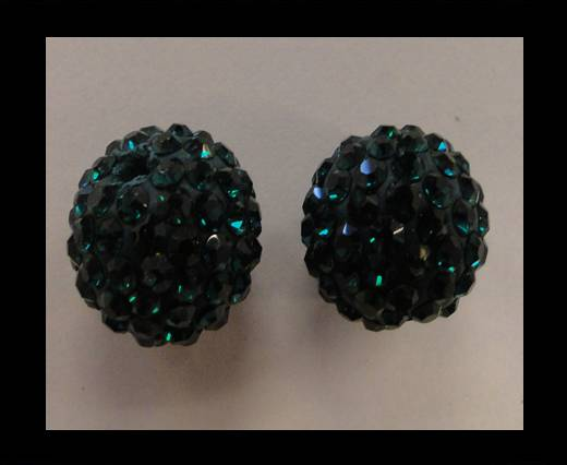 Buy Shamballa-Bead-12mm-Fern Green at wholesale prices