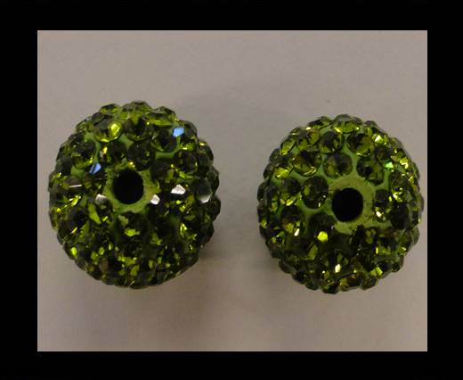 Shamballa-Bead-10mm-Olive Green