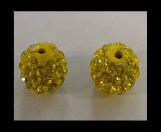 Shamballa-Bead-10mm-Citrine