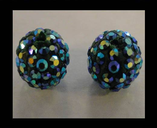 Buy Shamballa-Bead-12mm-Emerald AB at wholesale prices