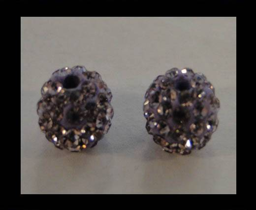 Buy Shamballa-Bead-12mm-Violet at wholesale prices