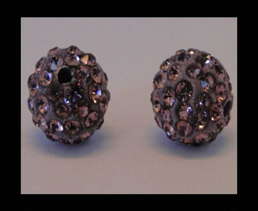 Shamballa-Bead-10mm-Light Amethyst