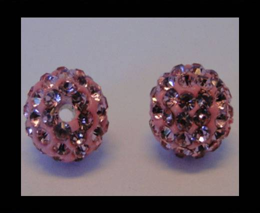 Shamballa-Bead-10mm-Light Rose