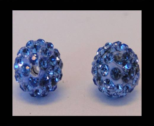Shamballa-Bead-10mm-Light Saphire