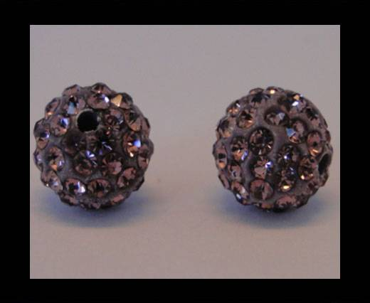 Buy Shamballa-Bead-12mm-Light Amethyst at wholesale prices
