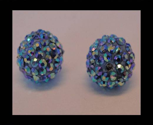Buy Shamballa-Bead-12mm-Light Saphire AB at wholesale prices