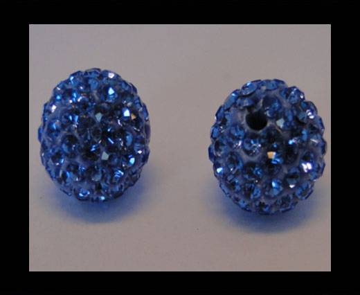 Buy Shamballa-Bead-12mm-Light Saphire at wholesale prices