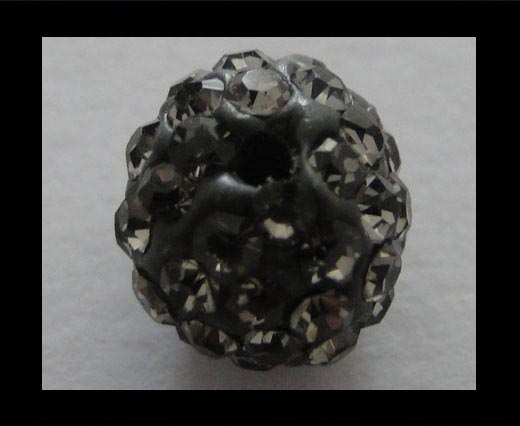 Shamballa-Bead-6mm-Black Diamond