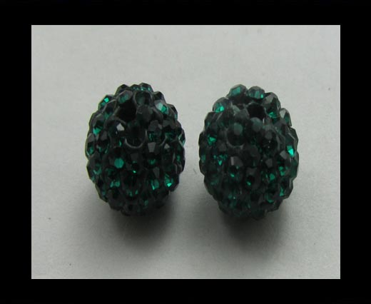 Shamballa-Bead-6mm-Emerald