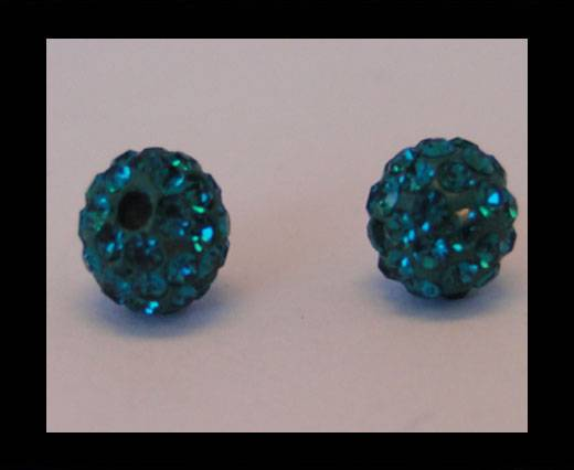 Buy Shamballa-Bead-8mm-Blue Zircan at wholesale prices